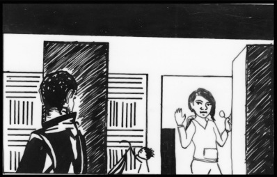 Storyboards from scenes with young Black women.
